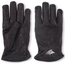 Black Premium Soft Grain Leather Lined Drivers Gloves Metis