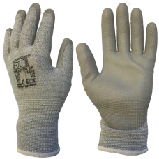 SuperTouch Deflector 5X Cut Level 5 PU Palm Coat on HPPE Grey Liner Safety Gloves 4543