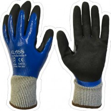Klass Tek 541 Cut 5 / D Full Coat with Thumb Crotch Sandy Nitrile Gloves