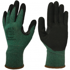 Klass TEK Green Reinforced Thumb Crotch Cut 3 Safety Gloves
