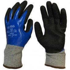 Klass Tek 540 Cut 5 / D Full Coat Water & Oil Proof Sandy Nitrile Gloves