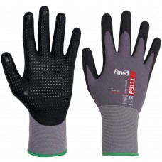 Dotted Palm Breathable Nitrile Nano Foam Work Gloves
