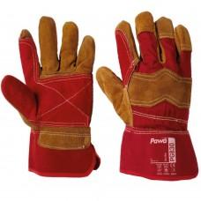 Premium Split Leather Pawa Double Palm Cut Resistant Rigger Gloves