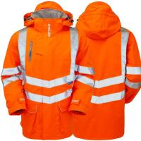 Pulsar Orange Railspec Waterproof Storm Coat Padded