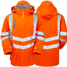 Pulsar Orange Railspec Waterproof Storm Coat Padded