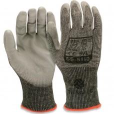 PU Palm Coated Lightweight 15 gauge Rhino Yarn Cut Resistant E Safety Gloves