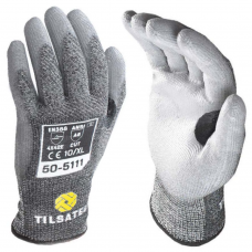 Tilsatec PU Coated Rhino Yarn™ Cut E & Heat Medium weight 10 gauge Gloves