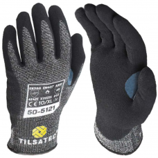 Tilsatec Cut E Heat Resistant Foam Nitrile Coated Thumb Crotch Safety Gloves