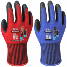 BLUE or RED Wonder Grip® Flex Sandy Nitrile Palm Coating on 13G Nylon Liner