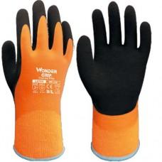 Wonder Grip® Orange Thermo Plus Fully Coated Foam Latex Grip Waterproof Gloves