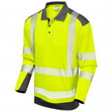 Coolviz Plus Long Sleeved Summer Wear Hi Vis Polo Shirt Class 2