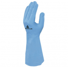 Blue Nitrex  Nitrile Flock Lined Chemical Gauntlet -33 cm 13""