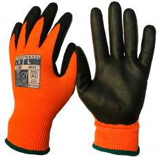 Portwest Traffic Light Orange AMBER CUT - Nitrile Foam - A643 Safety Cut Gloves