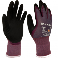 ATG MaxiDry 56-424 Palm Coated Oil Resistant Double Layer Nitrile Glove