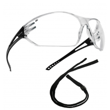 SLAM Bolle Wraparound Fit Panoramic Safety Glasses & Cord