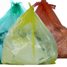 Colour Tinted Refuse Sacks x 200 Red Yellow or Green