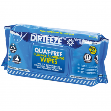 Dirteeze Food Safe Sanitising Blue Wipes Handy Pack x 200