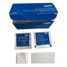 Pre-Injection Isopropyl Alcohol Wipes 70% Ind wrapped x 100
