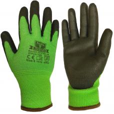 Cut Level D / 5 SafeT Traffic Light Green PU Coated Safety Gloves