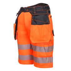 High Vis Cargo Shorts Yellow  or Orange Class 1 Knee Length