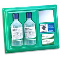 Green Eye Wash Panel - 2 x 500ml & Mirror