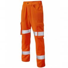 Lightweight Class 1 Poly/Cotton Cargo Work Trouser Orange 3 Leg Lengths