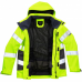 Leo Class 3 Premium Breathable Waterproof Yellow & Grey High Vis Work Coat