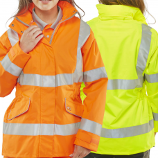 Ladies Tailored Fit Breathable Executive Hi Vis Coat