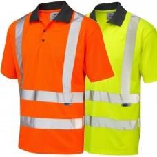 COOLVIZ Short Sleeve Polo EcoViz Class 2 UV Protection