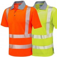 Leo COOLVIZ PLUS Class 2 & Ris-3279-Tom Railway Use Certified (Orange) Polo Shirt