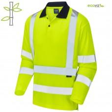 Leo Comfort EcoViz Anti-Microbial Poly Bamboo Fabric Polo Class 3 Yellow