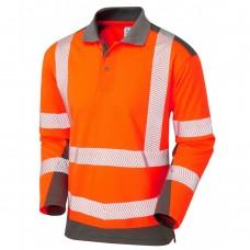 Coolviz Plus Long Sleeved Summer Wear Hi Vis Polo Shirt Class 2 Orange
