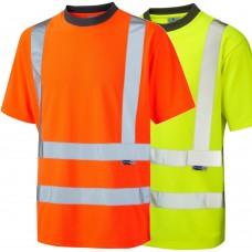 Leo COOLVIZ Recycled Polyester Class 2 Short Sleeve T Shirt