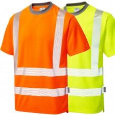 Short Sleeve COOLVIZ plus T Shirt Yellow or Railspec Orange Segmented Tape
