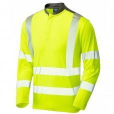 Coolmax Fibres Long Sleeved Performance Hi Vis T Shirt Class 3 Yellow