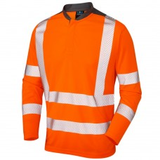 Leo WATERMOUTH Coolmax Fibre Long Sleeve T Shirt orange and grey class 3