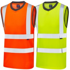 Leo Sleeveless High Vis T Shirt Recycled Polyester and Bamboo Fibres
