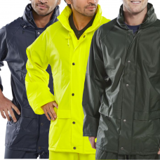 EN343 Class 3 WaterProof PU Coated Rain Jacket BDri