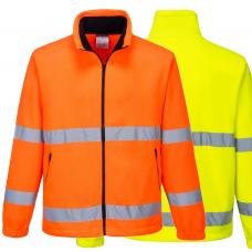 Fleece Jacket Full Zip Hi Vis Class 3 Railspec (orange)
