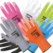 PU Palm Coated Glove in 7 Colours