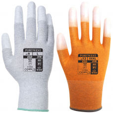 ESD Antistatic Finger Tip PU Coated Dissipative Gloves