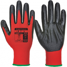Nitrile Palm Coated Red Pylon Liner Engineers Gloves