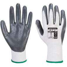 Nitrile Palm Coated Portwest Grey on White Polyester Work Glove