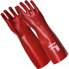 "Red PVC Coated 45cm 18"" Gauntlets"