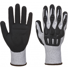Flexible Cut Level C Impact Resistant Nitrile Foam Padded Safety Gloves