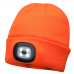LED Headlight Beanie Cap Rechargeable