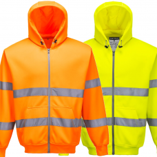 Hooded Full Zip Portwest Sweatshirt High Vis