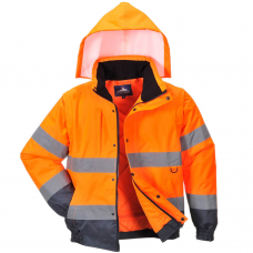 Extreme Cold Coat & Bodywarmer Combo Hi Vis Class 3 & Railspec (orange)