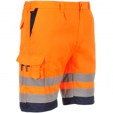 High Vis Shorts Yellow or Orange Class 1 Knee Length