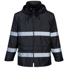 Iona Lightweight Waterproof Jacket with Reflective Strips EN343 Class 3